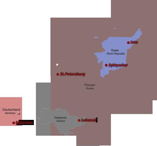 Uralgebirge Karte.Meine Geographie